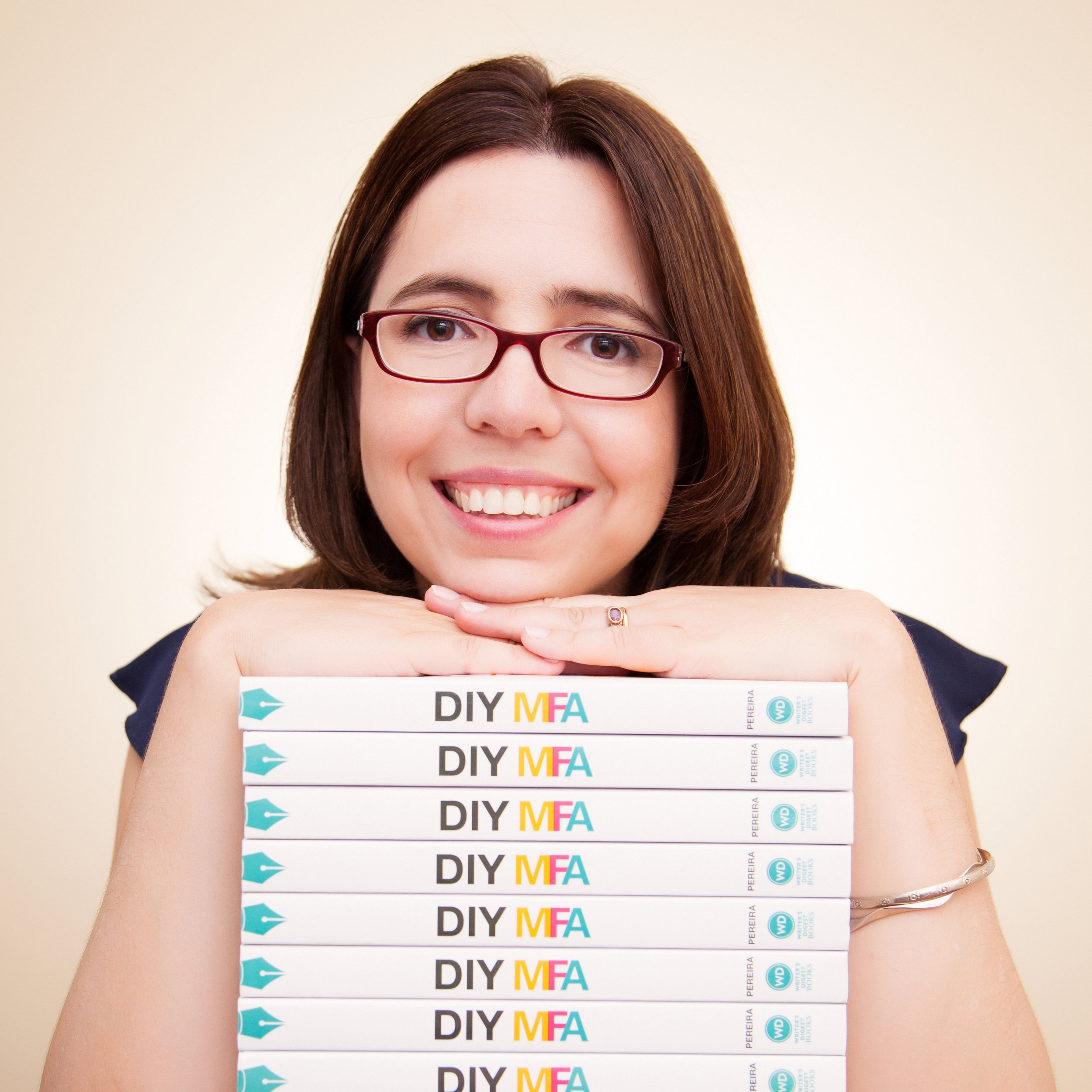 Gabriela Perera - founder of DIYMFA.com, podcast host for DIY MFA Radio, and author of DIY MFA: Write with Focus, Read with Purpose, Build Your Community