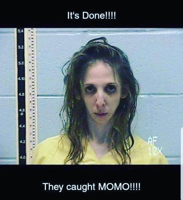 How soon before we get a #SlenderMan type movie about #Momo? #RealLifeHorror #CrackHead #DrugsAreBadMkay