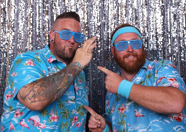 It sure has been a hot boy summer 2019! As the heat continues to smolder, stay cool in our photobooth like these two gents! They brought the 80s to the present with their beachy outfits. #shakeandbake #photobooth #eventrentals #wedding #weddinginspo #hotboysummer #summer #bayarea #partyrentals #bayareaphotographer #weddingready #the80s #backtothefuture #partytime