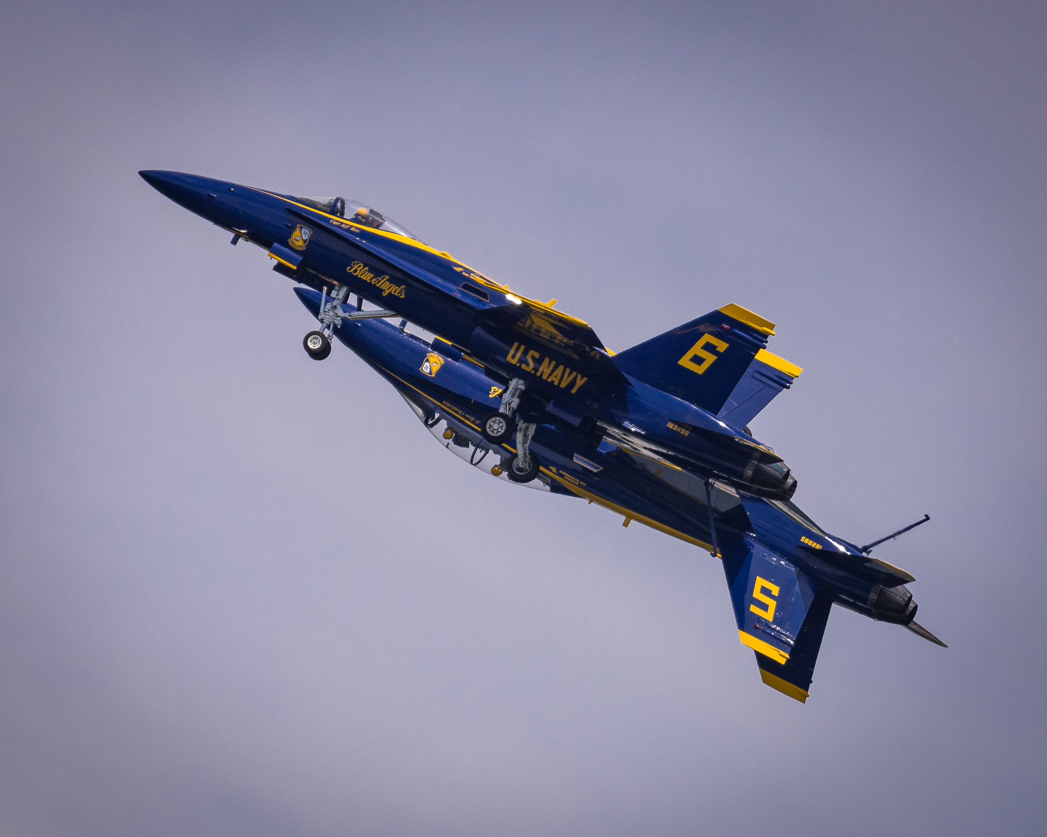 The Blue Angels over Annapolis, MD. A week later,Captain Jeff Kuss, pilot of #6, was tragically killed in a crash in TN. http://local15tv.com/news/local/funeral-held-for-fallen-blue-angel-capt-jeff-kuss