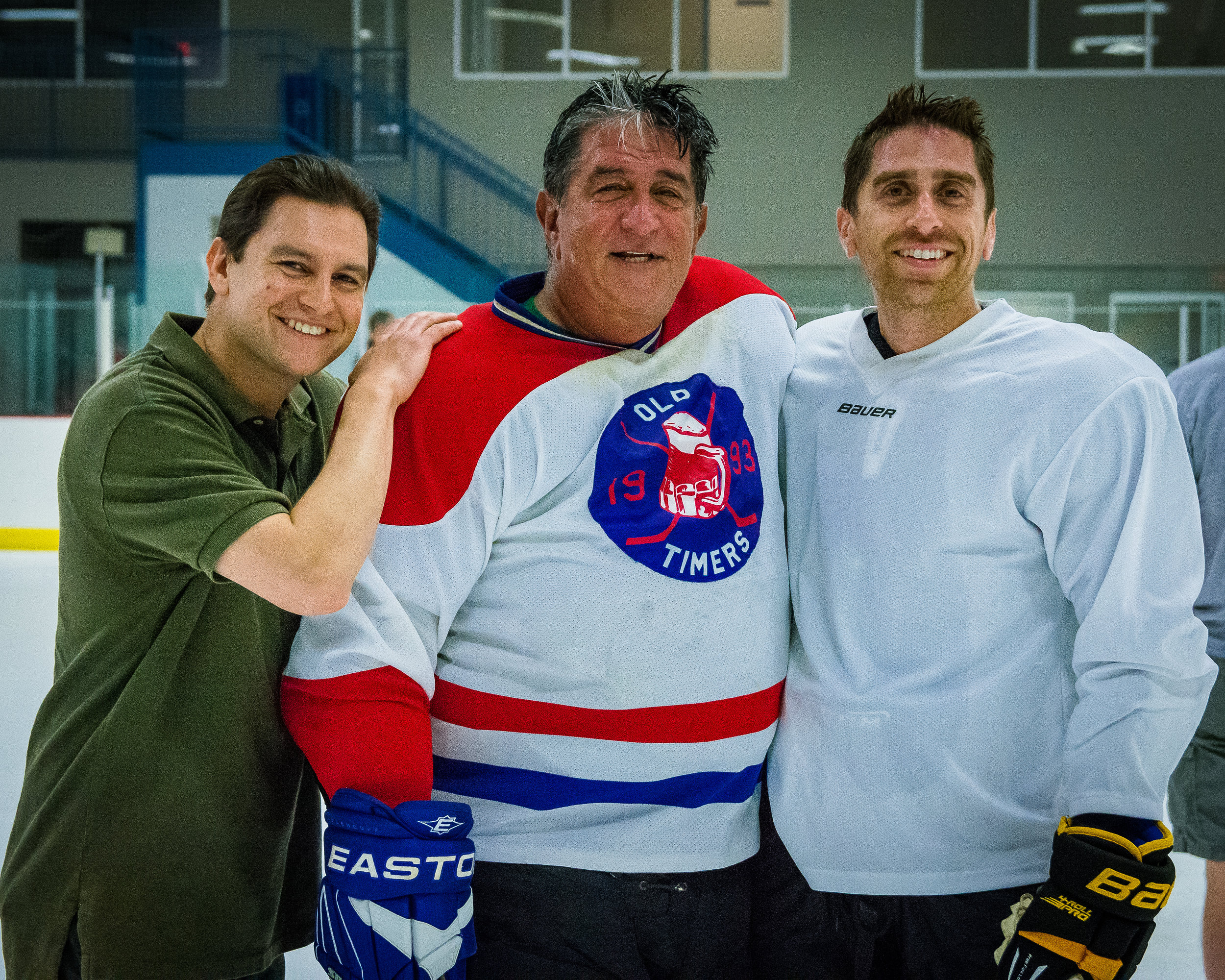 Barry, Marty and Evan Siegel after Marty's final game