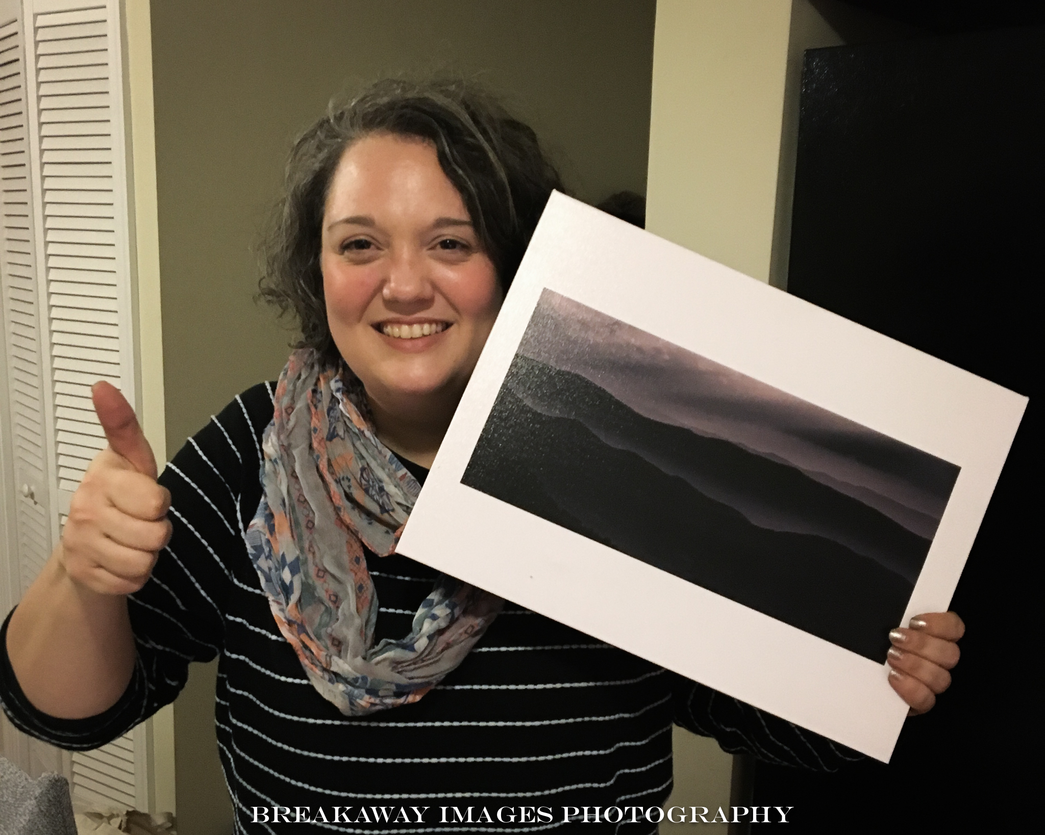 Brigid McCarthy with Mountain Layers on Canvas.jpg