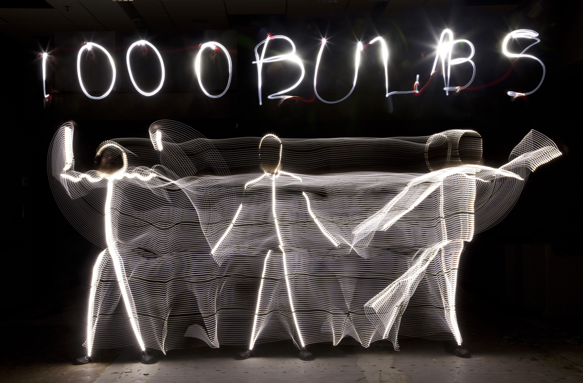 Light Painting from an LED Light Suit