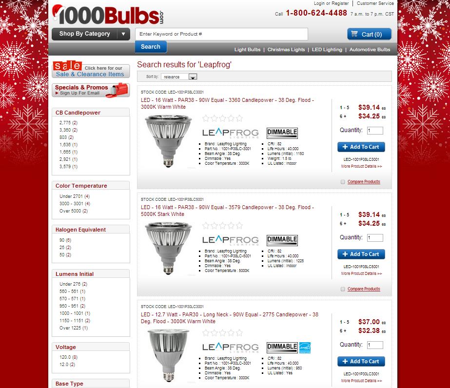 Leapfrog LED Light Bulbs