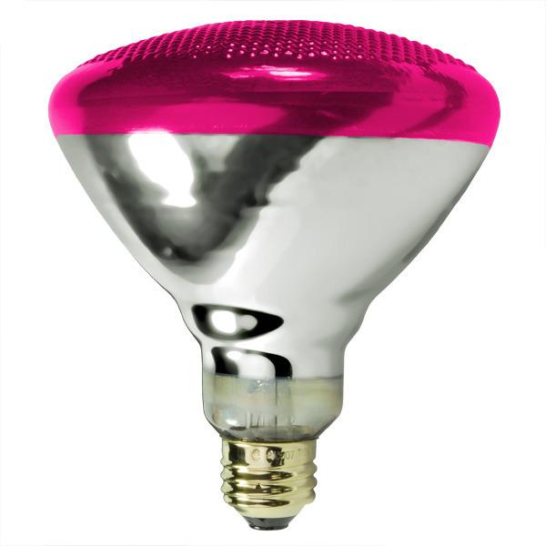 Satco S5007 - 100 Watt - Pink - BR38