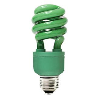 Green CFL Bulb