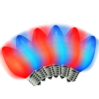 Red to Blue C9 Bulbs