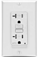 Leviton 20 amp AFCI outlet available at 1000Bulbs.com.