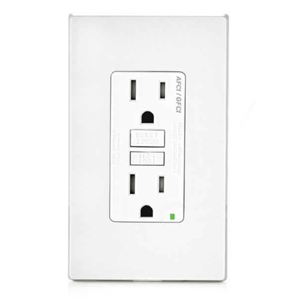 AFCI/GFCI Outlets protect against shock and electrical fires.  Learn more.