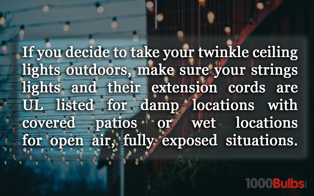 Make sure strings lights are UL listed for outdoors