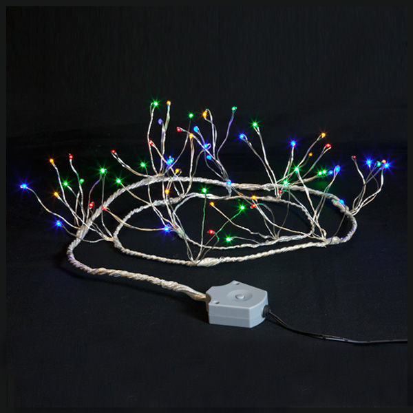 InvisiLite LED Supernova multi-color string lights battery operated