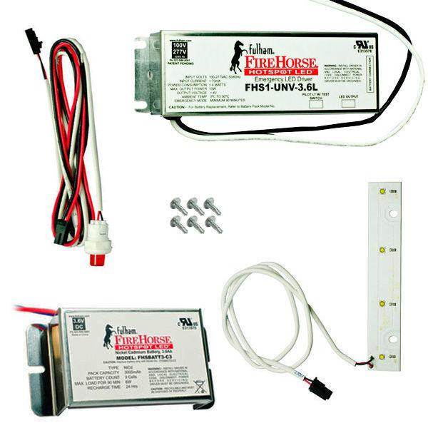 Fulham LED emergency lighting system for retrofittting troffers
