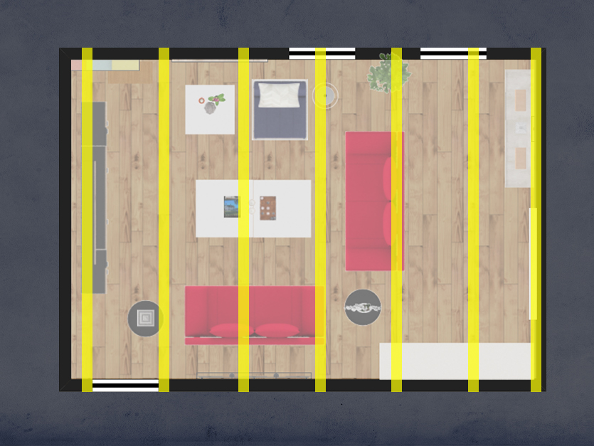 Step 1: Measure out your ceiling joists.