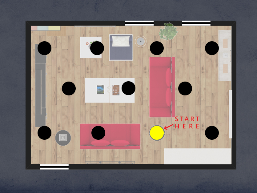 (Other) Step 2: Or start at a focal point & space out your lights from there
