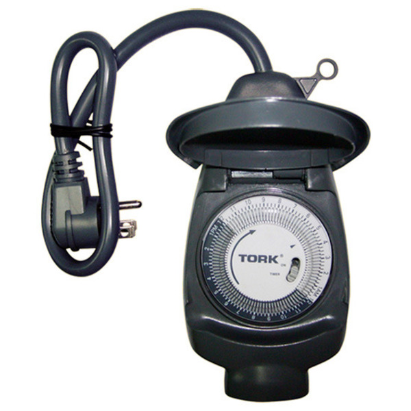 Tork Outdoor Plug-In Timer, conveniently easy to use.