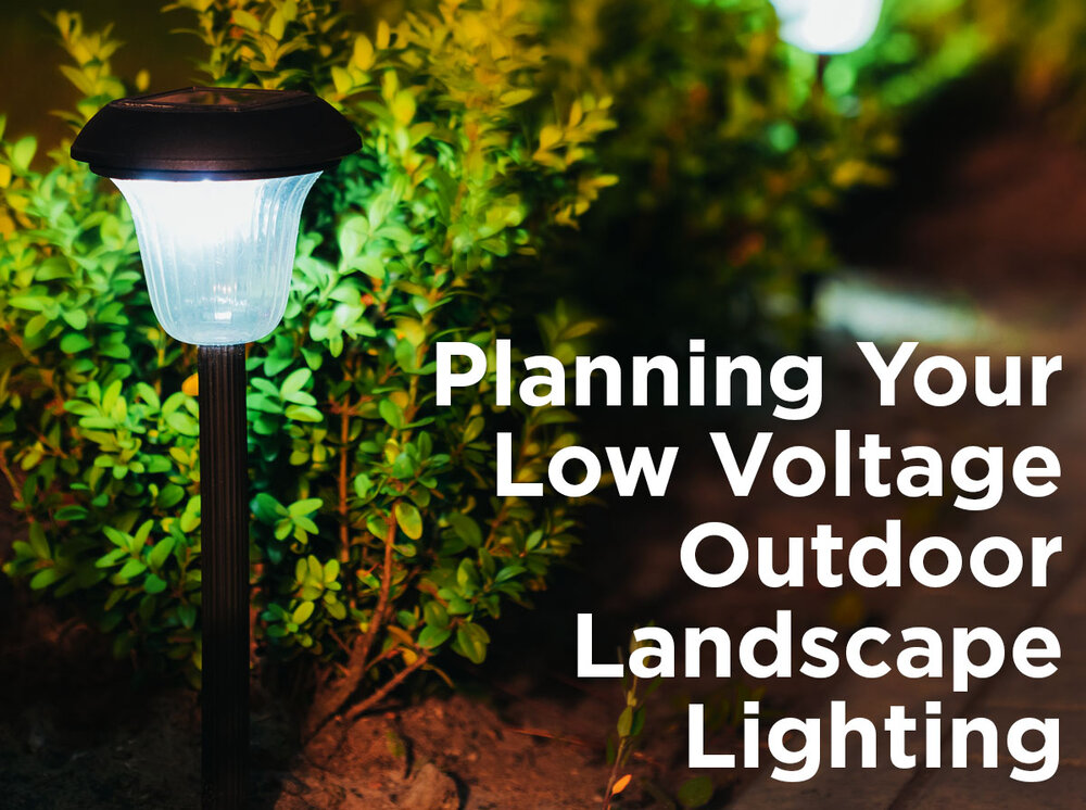 Low Voltage Outdoor Landscape Lighting, What Cable Do You Use For Outdoor Lights