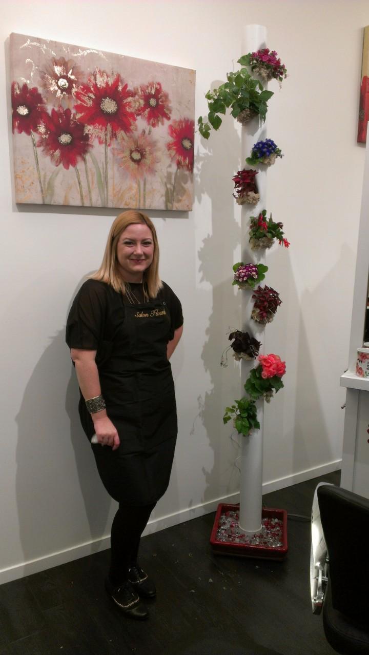 Aergrow system at Salon Flourish with owner Karen Flowers