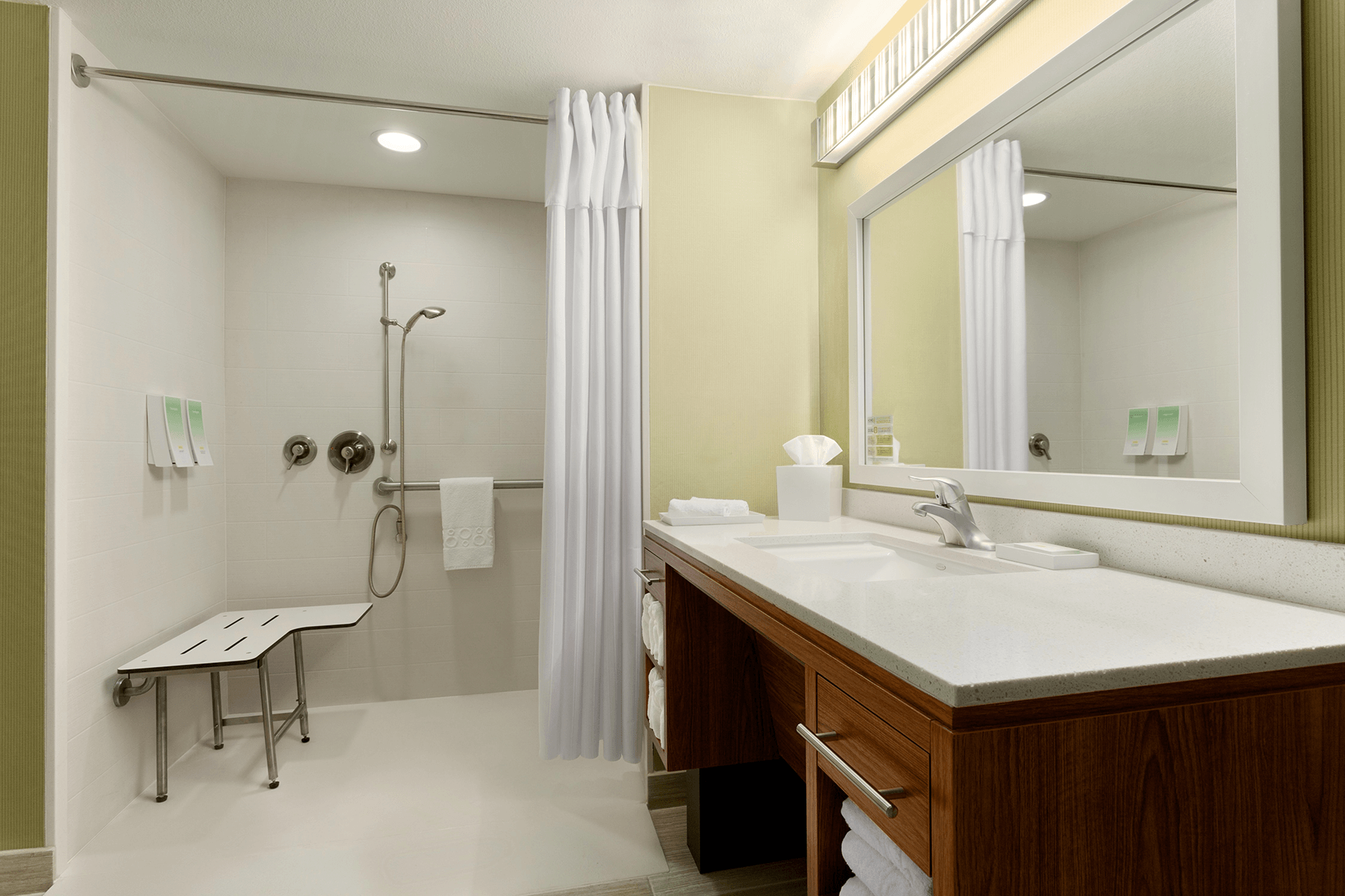 Accessible Roll-In Bathroom