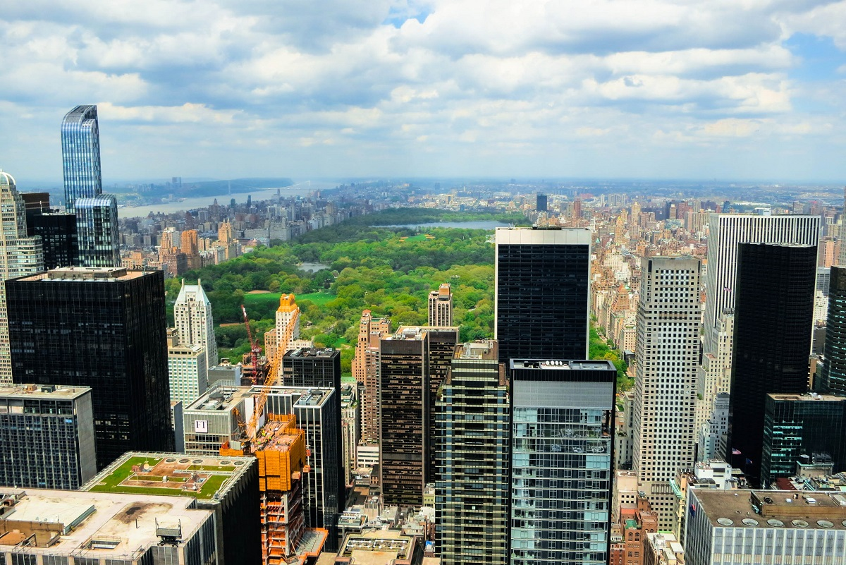 A view of Central Park from the Top of the Rock