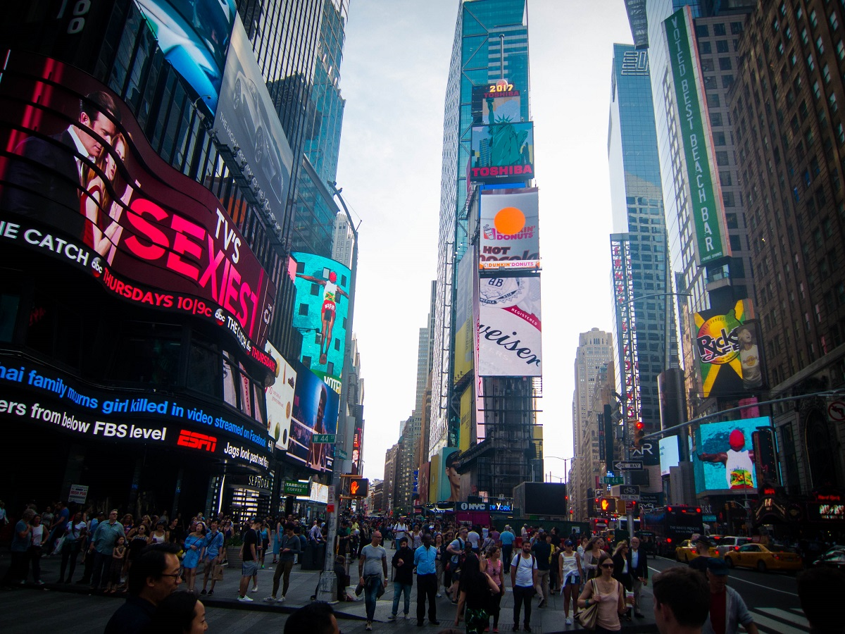 the Hustle of Times Square