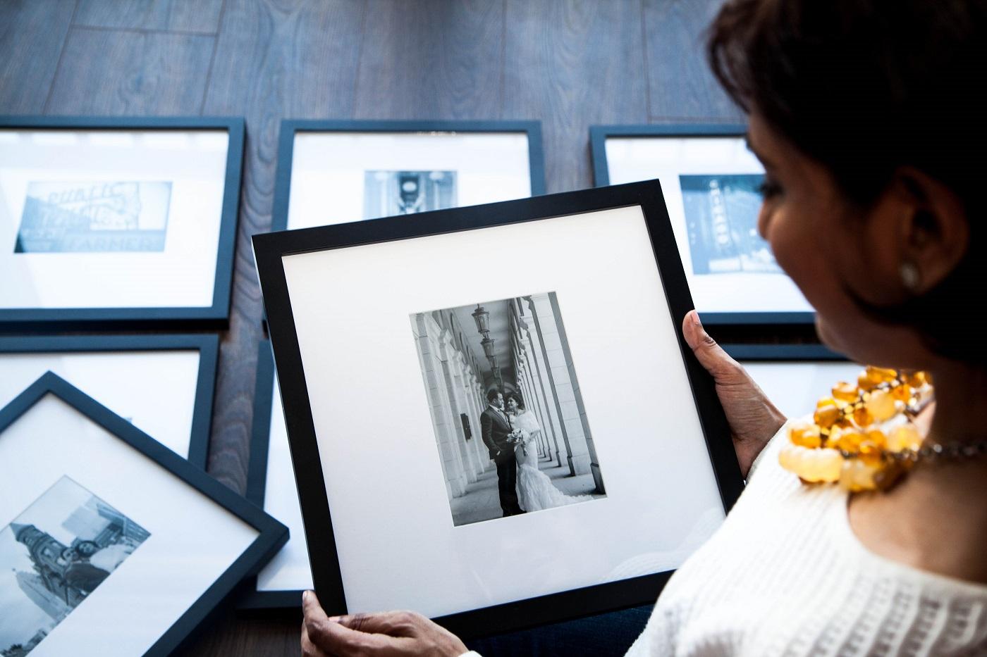 framed wedding photos