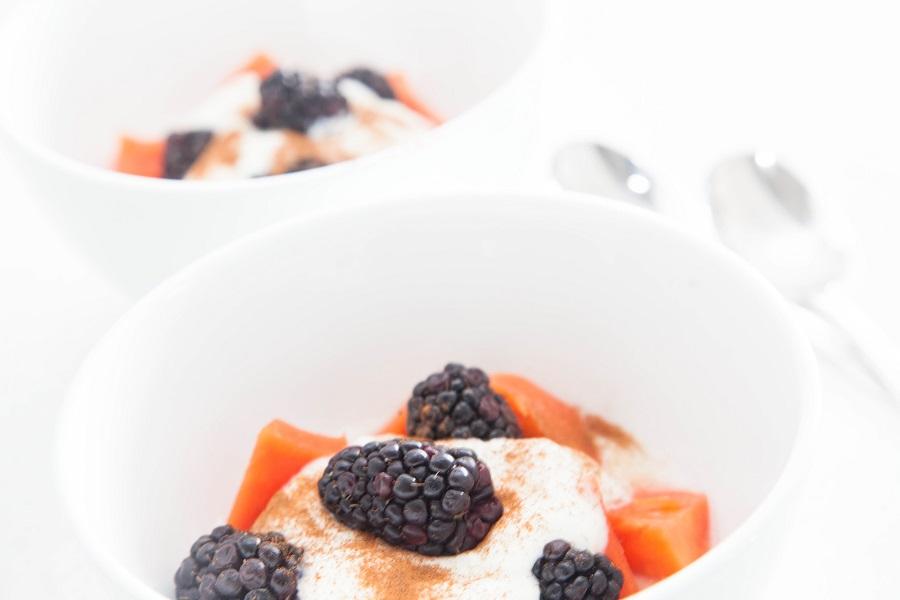 papaya breakfast parfait