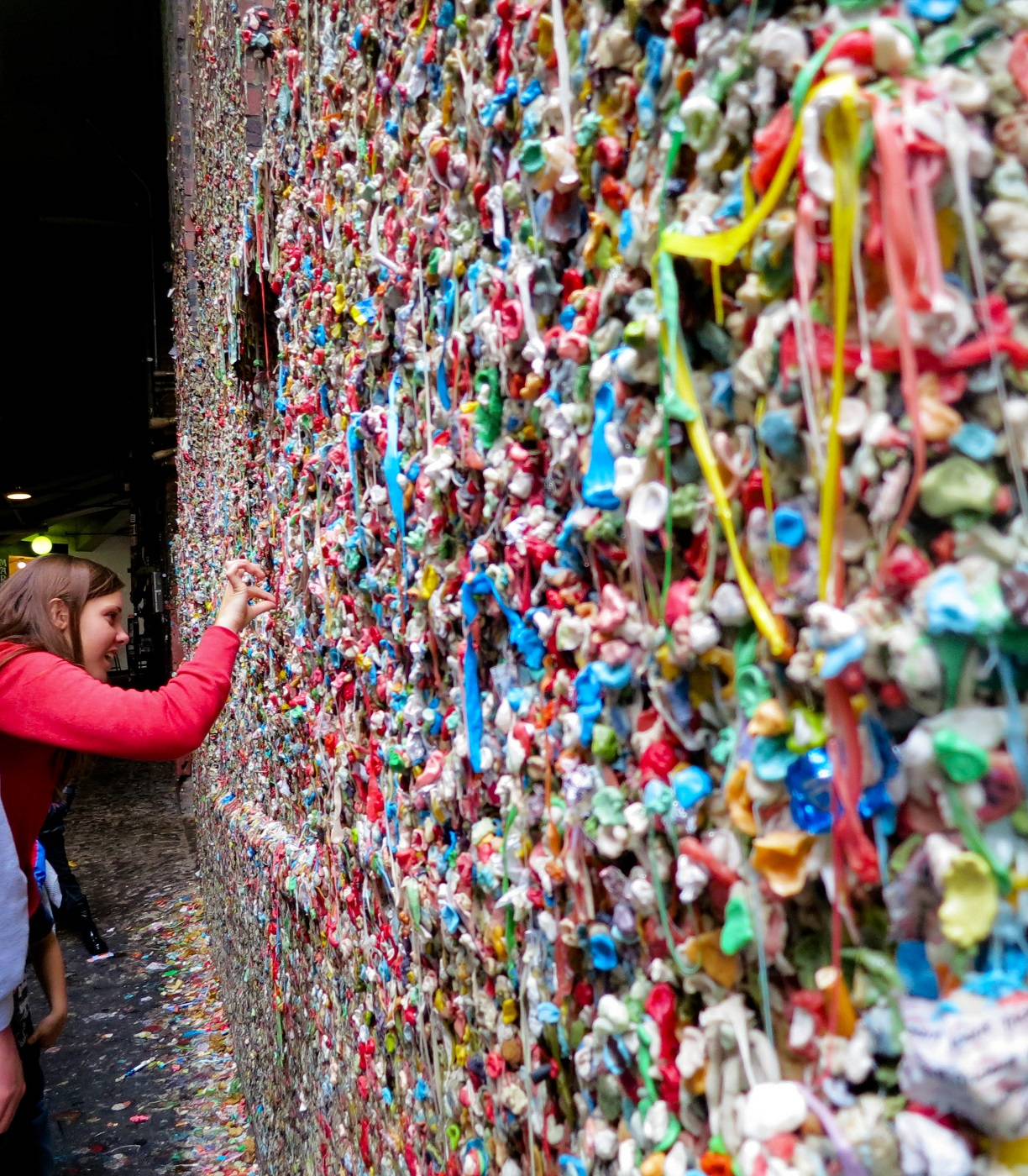 disgustingly beautiful - Seattle's gum wall