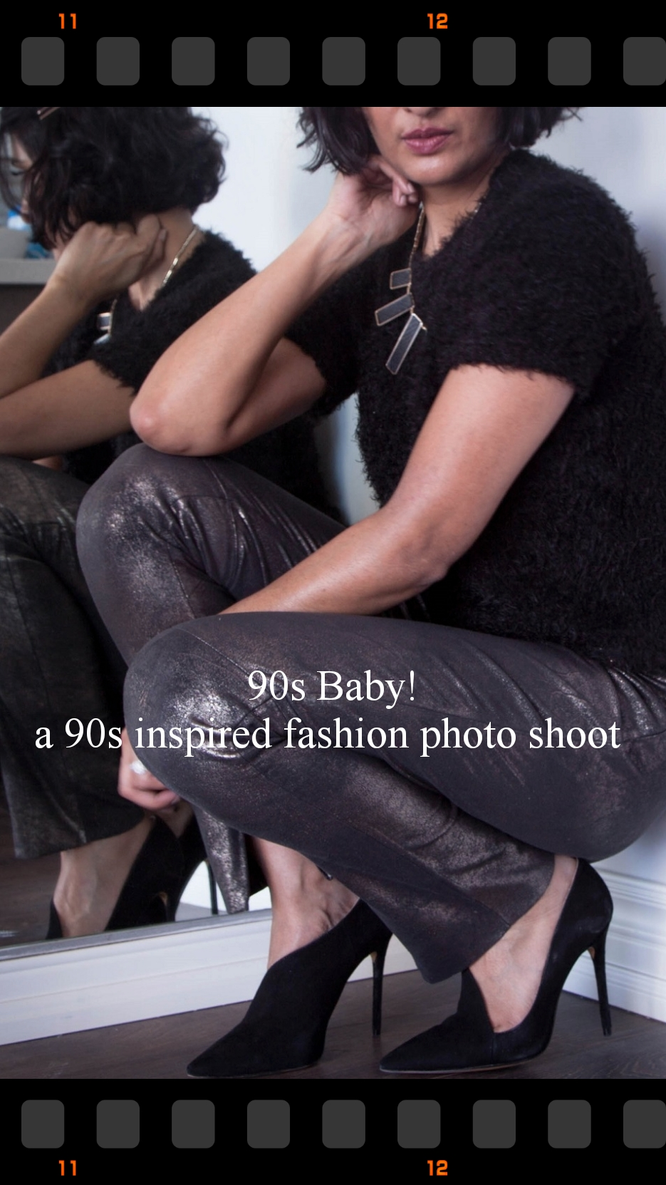 90 fashion photo shoot