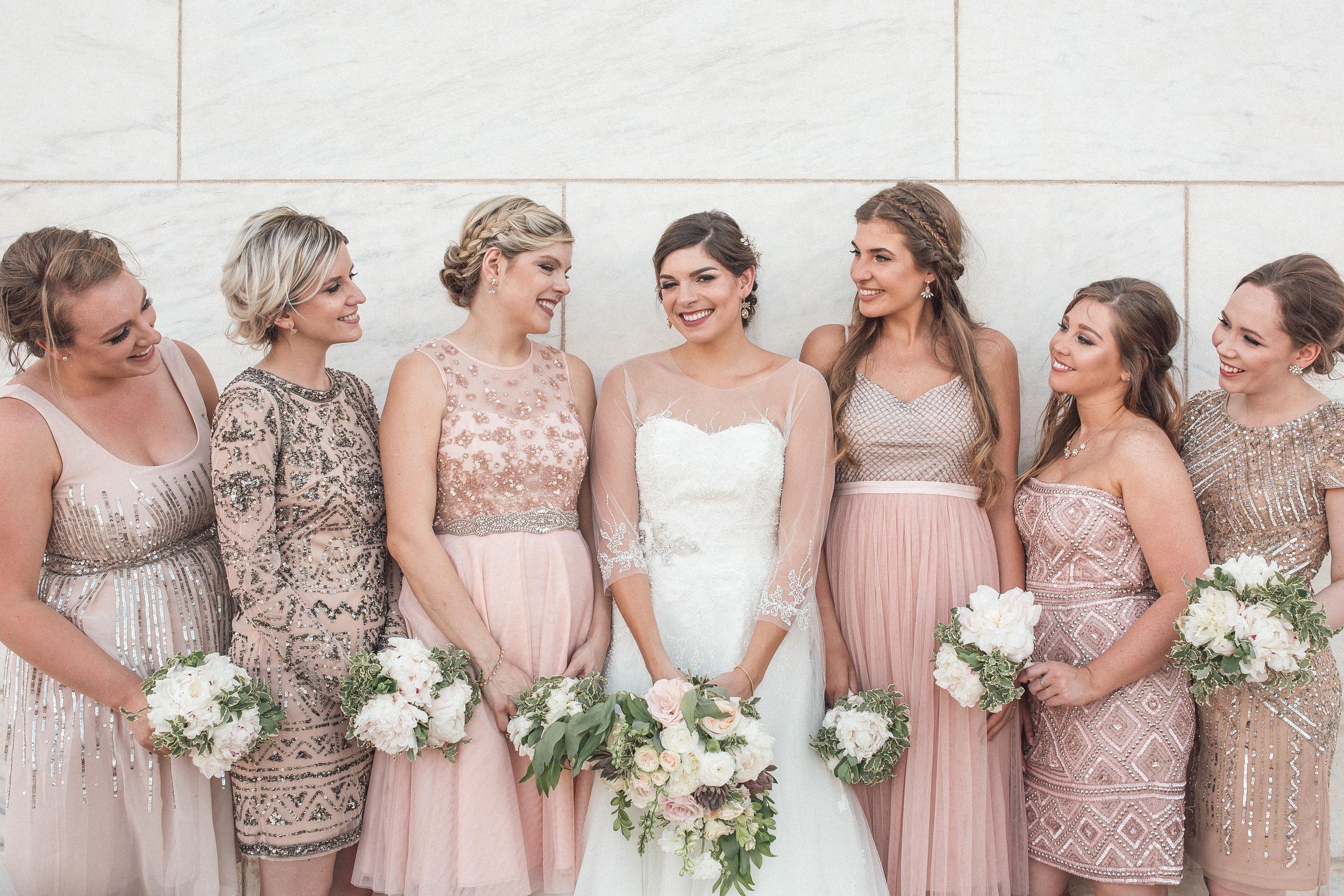 Wedding Editorial Bride's Maids