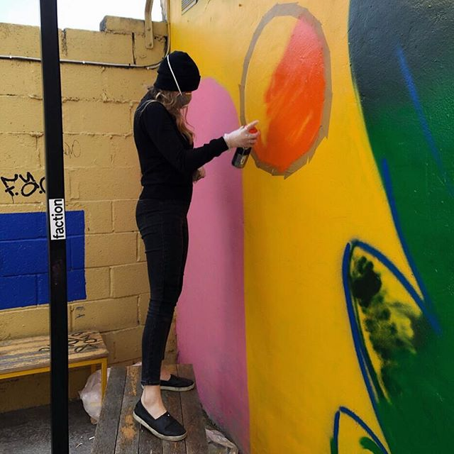 Spent the weekend painting this mural with the @epochdublin gals for @luckysdublin 😍 ft. @claire.prouvost lil celebration dance 💃🏼 swipe to see ⏭ • Follow us @epochdublin to see the finished product over the next few days 🔥 👀 - - - - #epochdublin #luckysdublin #streetart #spraypaint #illustratedmural #girlgang #femalecollective #streetartdublin #colourfulmural #wallart #dublinart #creativegirls #artcollective #womenspraypainttoo #creativeprocess #spraypaint #montanacans #beautifulmural #selfiemural #dublinpub #dublinstreetart #graffitiartist #illustrated #illustration #womenwithpencils #womenwhodraw #bigscale #coolartwork #processvideo #montanacolors