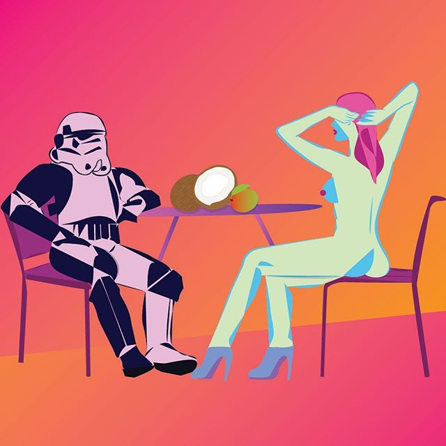 May the fourth be with you 👻 - - - - - #starwars #stormtrooper #queefmag #illustratie #queefmag #fwportfolio #creative #juxtapoz #illustagram #femaleform #irishartist #designspiration #picame #femaledesign #fwportfolio #yownw #erotica #ossomagazine #ballpitmag #nakidmag #nakidinspo #itsnicethat #illustrationartists #eroticart #dribbblers #designarf #dribbblers