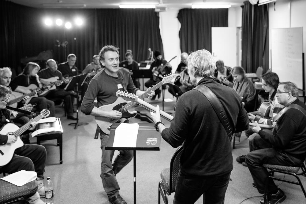 Lucas Michailidis with Brett Garsed