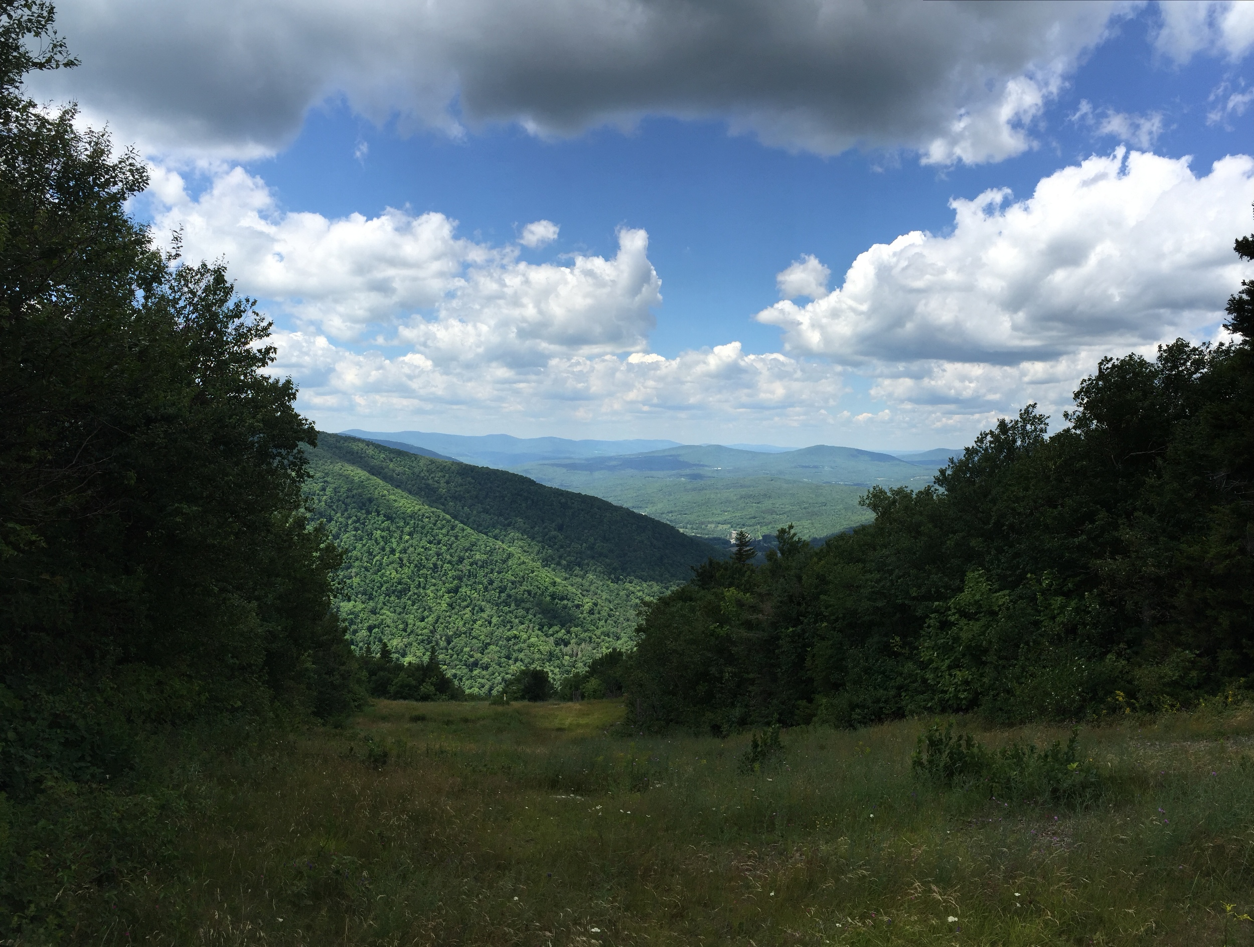 A view from the Hunter Mountain in Catskills