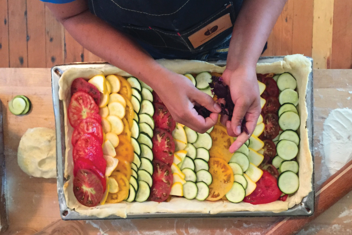Chef Missy puts together a vibrant ratatouille.