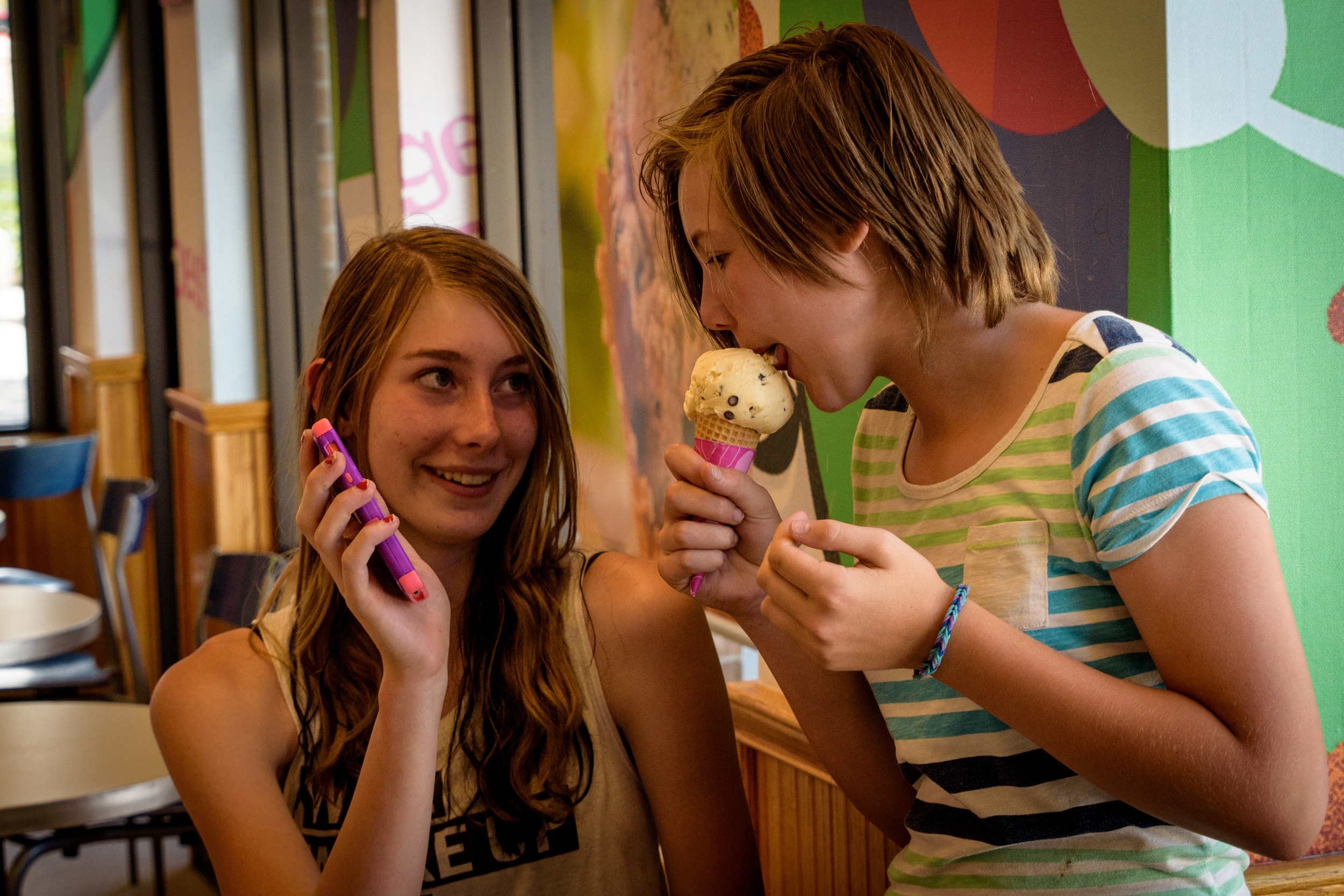Labyrinth field trip ice cream