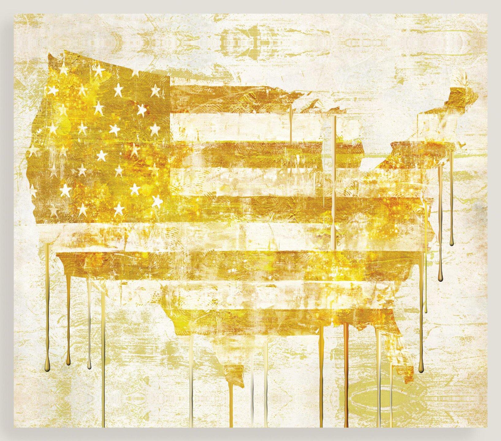 Golden Flag I,  Mindy Sommers, World Market, $89.99