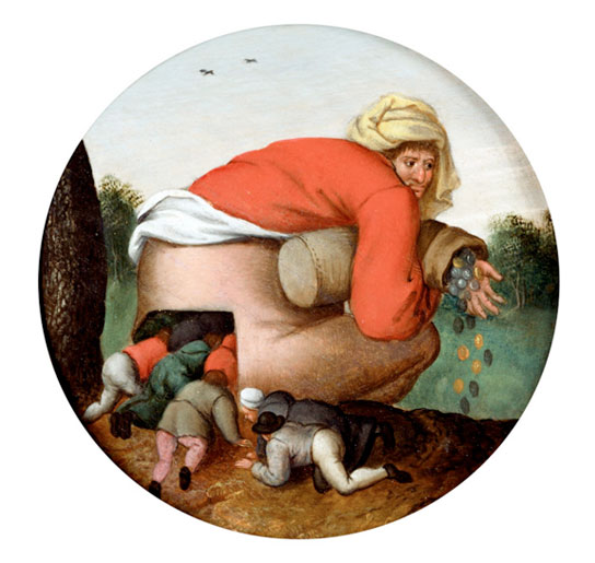 The Flatterers, Pieter Brughel the Younger, 1592