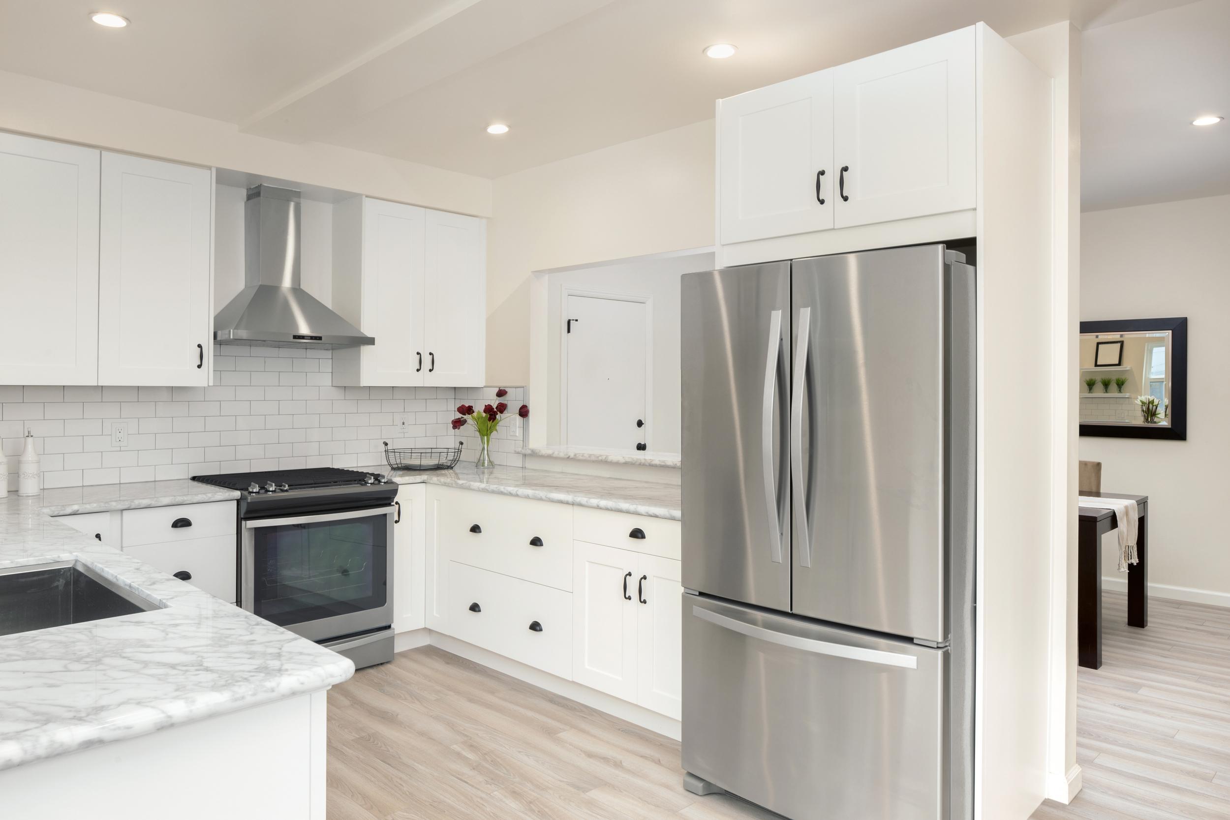 White Carrara Marble Kitchen Counter Top