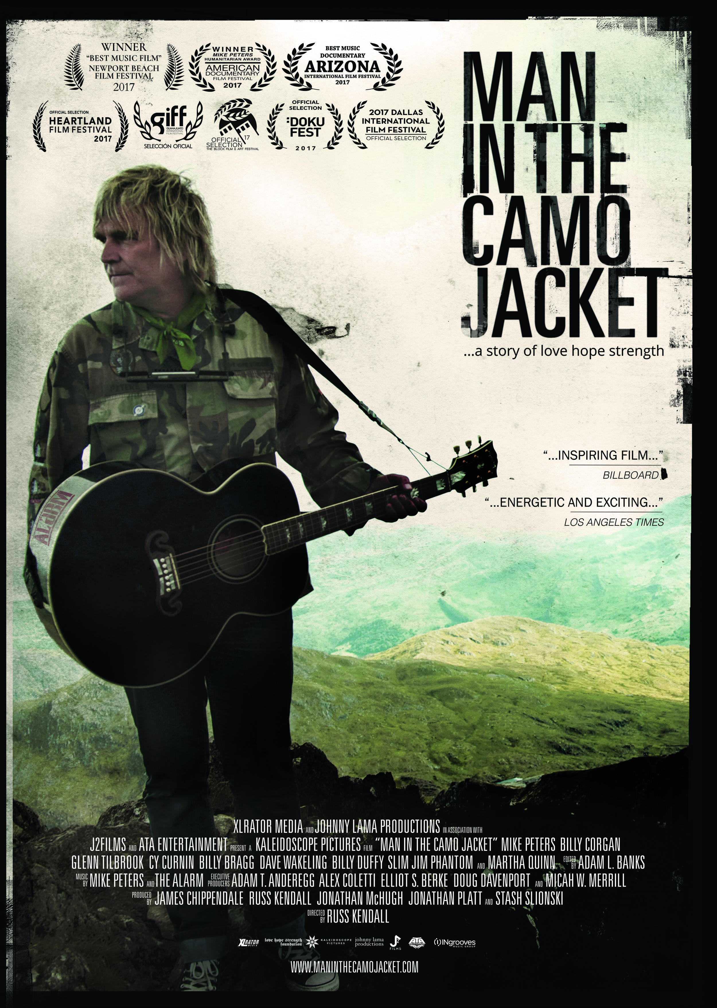 Man in the Camo Jacket - Featuring one-of-a-kind performances from legendary rock musicians, Man in the Camo Jacket unfolds Mike Peter's evolution from teenage punk rocker in a seaside town on North Wales, to the top of the world, to the harrowing depths of cancer treatment and his inspiring fight back.Available Now on iTunes and AMAZONWatch the TrailerWebsite