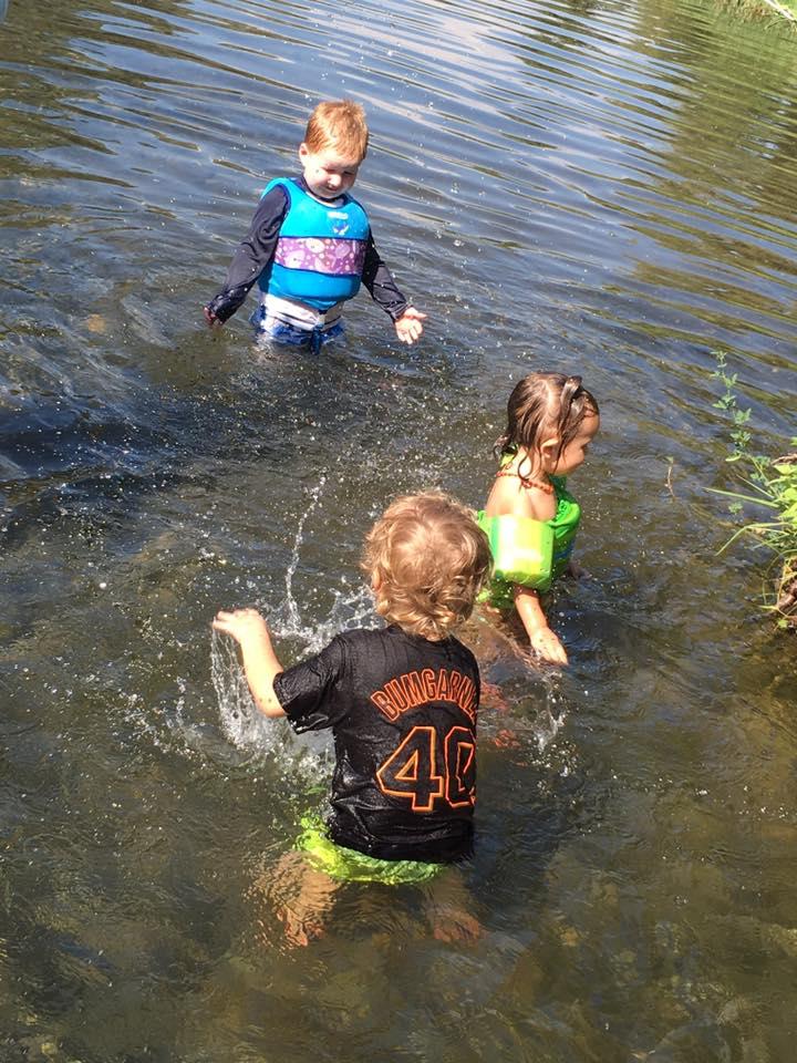 Creek & Pops in the water.jpg