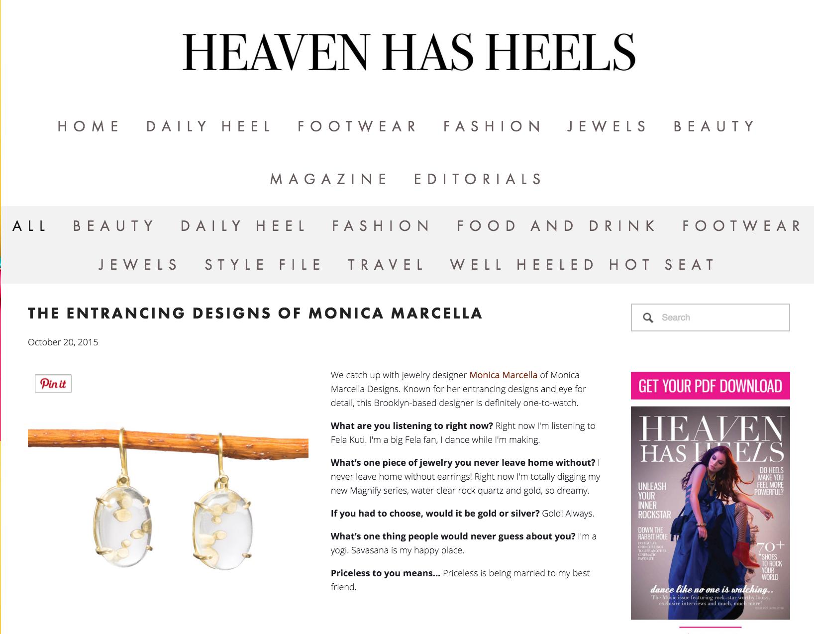 Heaven Has Heels Monica Marcella