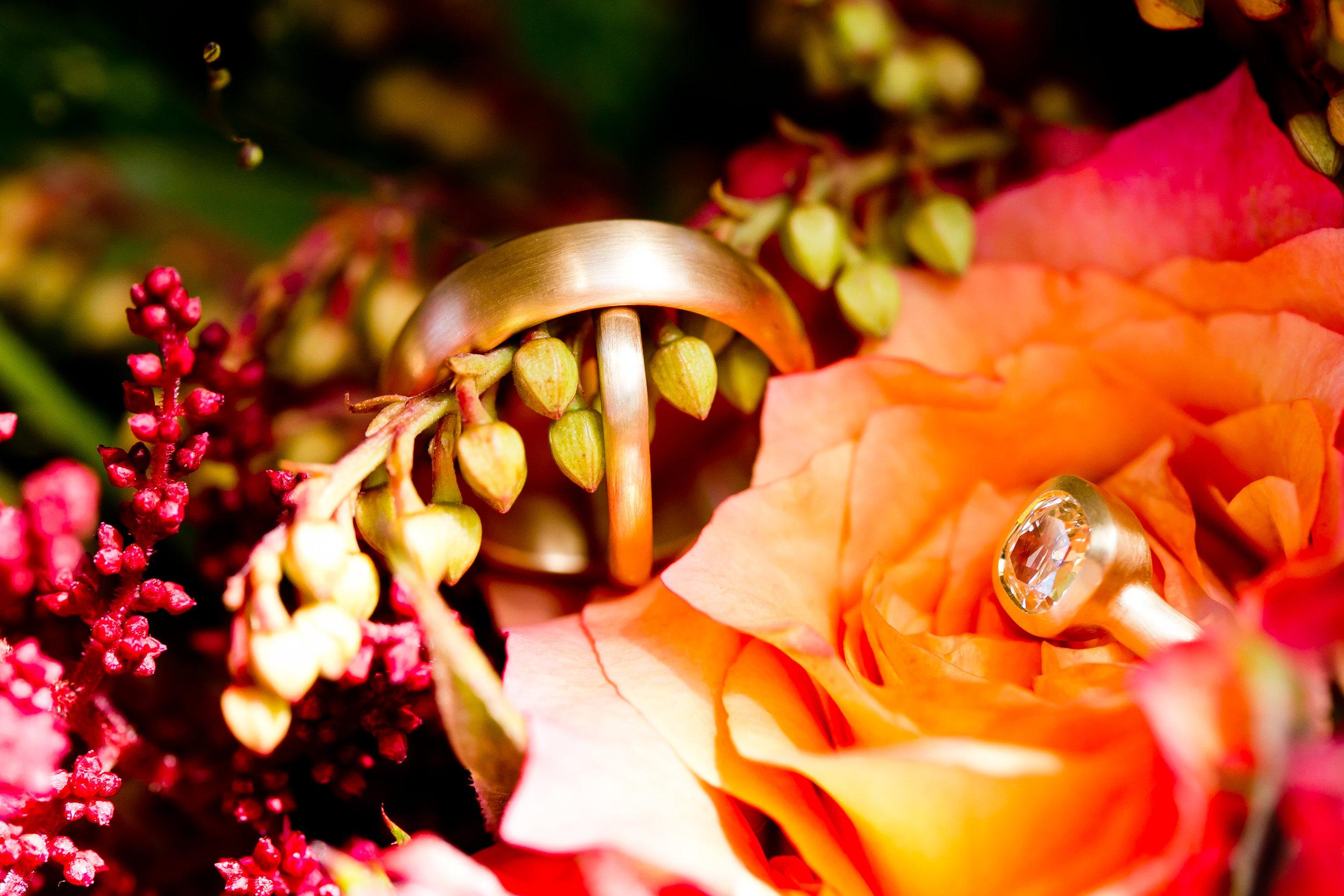 Custom 18k Gold Wedding Bands by Monica Marcella