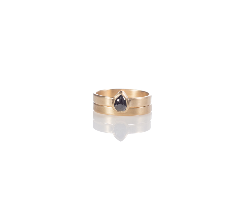 Black diamond bridal set.