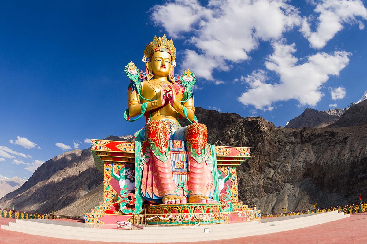 Statue of Maitreya Buddha in Nubra Valley, India