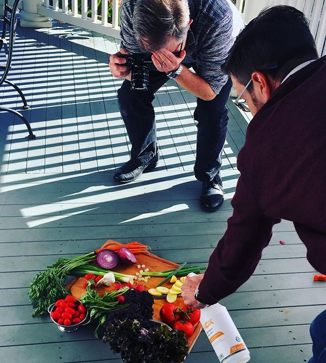 Very excited to work with @jimschererphoto and @braveapron learning food photography! 📸