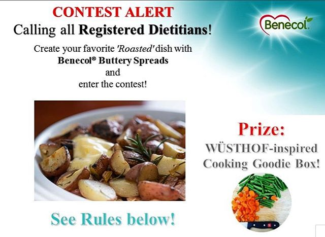 Calling all Registered #Dietitians! Enter our Benecol® 'Roasted' #Recipe #Contest for a chance to win a WÜSTHOF-inspired 🔪cooking goodie basket for your culinary adventures.  HOW TO ENTER: 1. Follow us and like this picture to qualify.  2. Use our Benecol® Original Spread to create your favorite 'Roasted' dish - it could be vegetables, fish, fruit, or your own version of our Chicken Dinner. Just be creative! 3. Take a picture of your #culinary creation with the container of Benecol® somewhere in the photo. 4. Post your original picture on Instagram®, tag @benecolusa, and include the hashtag #BenecolRoasted  Questions? TheDietitianTeam@benecolusa.com  Winner will be contacted January 6th via IG direct message!  Bonus! The Winning Photo and recipe will be re-recreated and posted on the Benecol® website by our resident Chef, Anna Rossi @braveapron  Contest Rules: Entries limited to Registered Dietitians only (verification may be required); limited to one entry per person / Instagram® handle; contest opens September 22nd, 2016 ends at 11:59PM on December 31st, 2016; photo must be of a recipe created by roasting or baking technique, and photo must include a container of Benecol® to be deemed valid. #Wusthof @wusthof