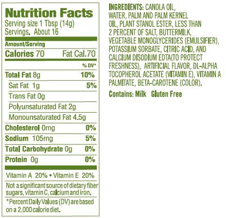 Benecol Original Nutritionals.jpg