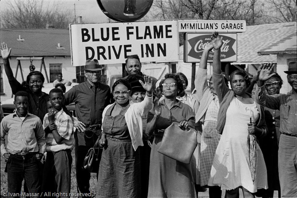 Arriving Montgomery, Blue Flame Diner.