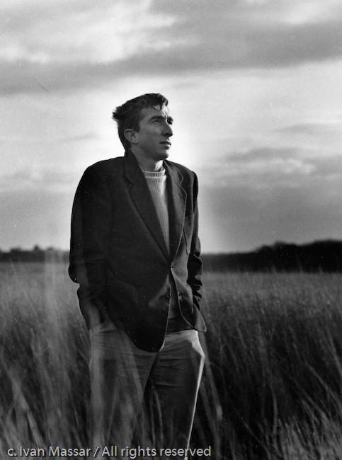 John Updike. Ipswich, MA, near Crane's Beach, 1970.