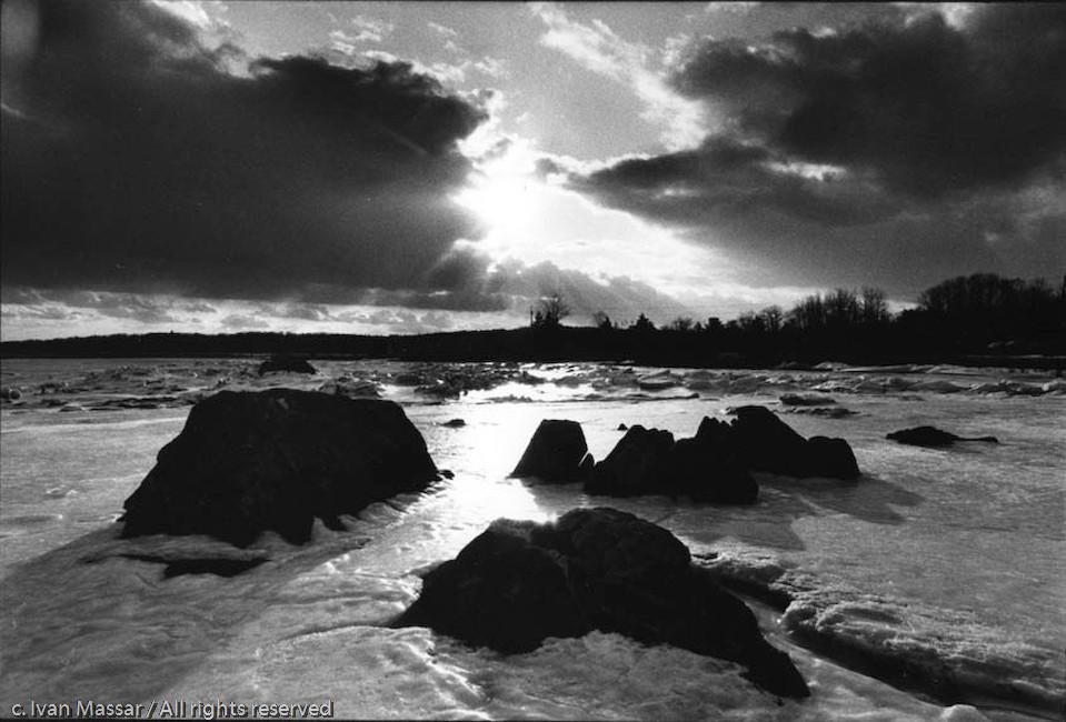 Frozen Beach.  Penobscot, ME